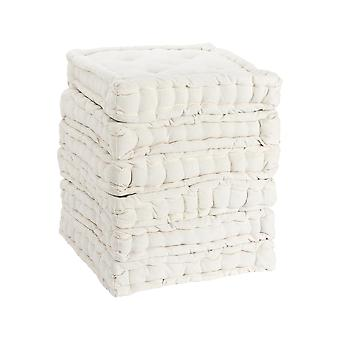 Nicola Spring Square Padded French Mattress Dining Chair Cushion Seat Pad - Cream - Pack of 6