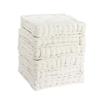 Nicola Spring Square Gewatteerde Franse matras dinerstoel kussen stoelpad - Crème - Pack van 6