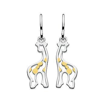 Dew Sterling Silver Giraffe med Gold plate drop øredobber 6038GD015