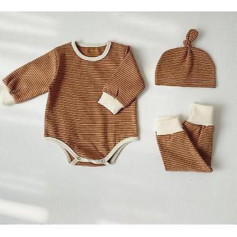 Newborn Baby Sleepwear Pajamas - Romper +pants +hat