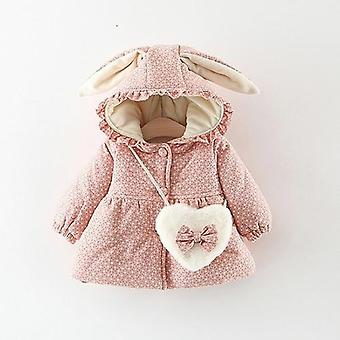 Newborn Baby Girl Clothes Floral Hooded Cotton-padded Jacket Outerwear For 1 Year Baby Birthday Outfits Coat