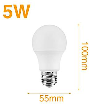 Led Light Bulb Radar Induction Lamp With  5w 7w 9w 12w White Led Bulb 110v 220v