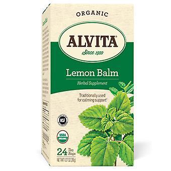 Alvita Čaje Organický čaj, Citrónový balzam 24 Tašky