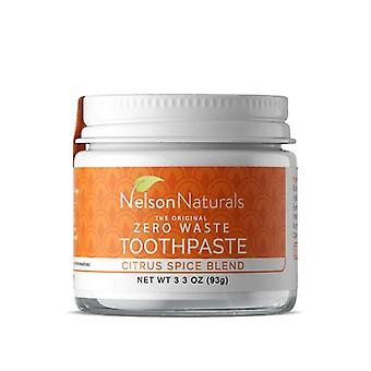Nelson Naturals Activated Charcoal Toothpaste, Citrus Spice 3.3 Oz