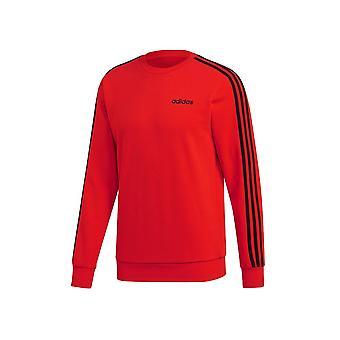 アディダスエッセンシャル3ストライプクルーネックフレンチテリーDU0488サッカーオールイヤー男性のスウェットシャツ