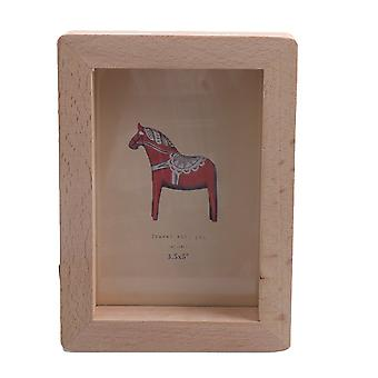 Wooden Photo Concise Photo Frame Picture Holder Decoration 14.7x10.7cm