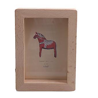 Drewniane zdjęcie zwięzły ramka na zdjęcia dekoracja 14.7x10.7cm