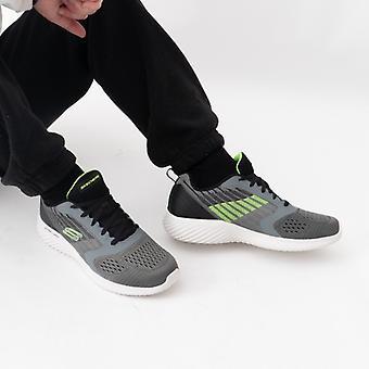 Skechers Bounder Verkona Miesten Kouluttajat Charcoal Grey