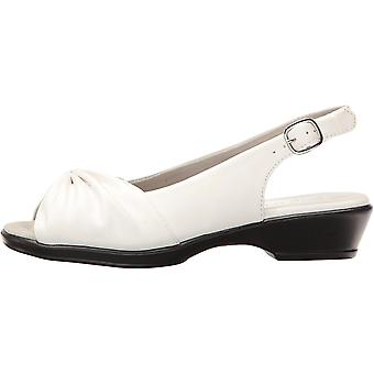 Easy Street Women's Fantasia Heeled Sandal White 8 2W US