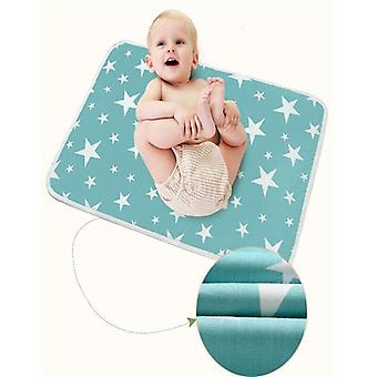 Washable Newborn Baby Kids Toddler Geometry Cotton Mattress, Breathable