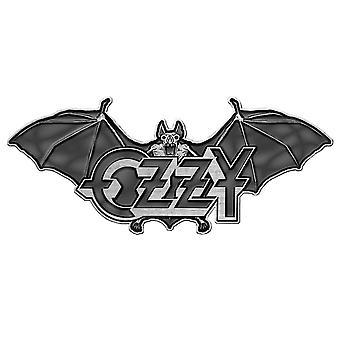 Ozzy Osbourne Pin Odznak Obyčajný muž Bat Logo nové oficiálne grey