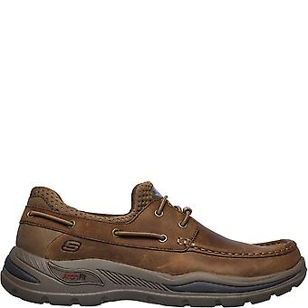 Skechers Mens Arch Fit Motley Leather Loafers