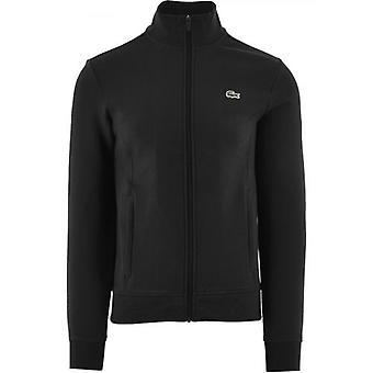 Lacoste Sport Musta Puuvilla Blend Fleece Zip Collegepaita