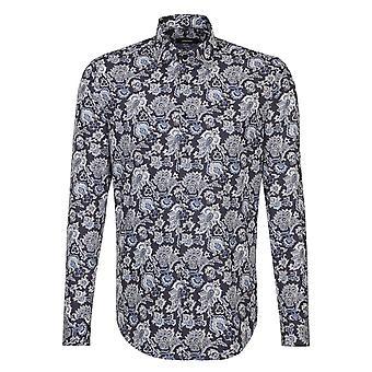 Seidensticker Floral Print Mens Business Shirt