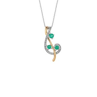 Smaragd Diamant Halskette