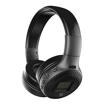 Zealot B19 Wireless Headphones with LED Display and FM Radio - Bluetooth 5.0 Wireless Headphones Stereo Studio Black