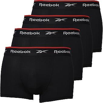Reebok 4-Pack Sports Performance Boxer Trunks, Black