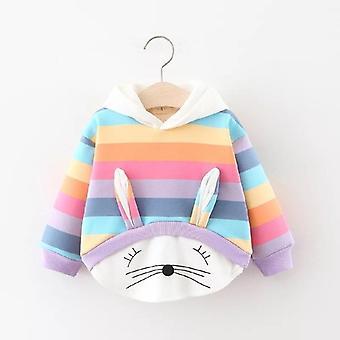 Cartoon Konijn Patroon-hooded Sweatshirts