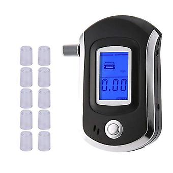 Professional Digital Breath Alcohol Tester Breathalyzer With Lcd Display With10