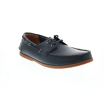 Clarks Morven Sail Herren Blau Loafers & Slip Ons Bootsschuhe