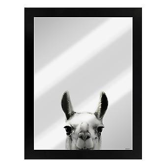 Inquisitive Creatures Llama Mirrored Plaque