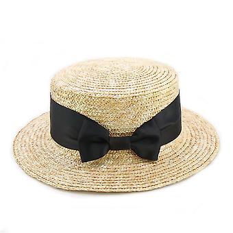 Nouveaux chapeaux de soleil de paille d'adultes et d'arc, chapeau de plage d'été