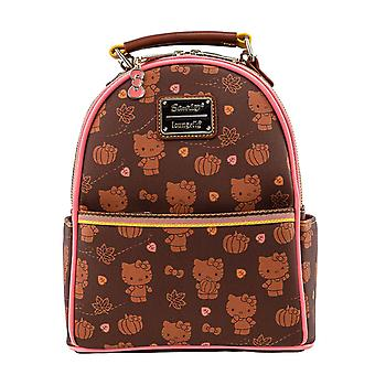 Hello Kitty Mini Backpack Pumpkin Spice new Official Loungefly Brown Convertible
