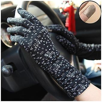 Female Mid-long Summer Cotton Cycling Thin Touch Screen Driving Gloves