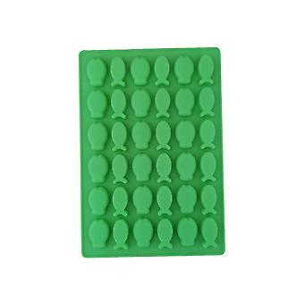 Zöld TRP Candy & Csokoládé formák Hal alakú penész konyhai eszközök gyerekeknek