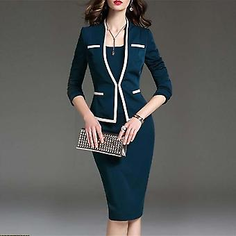 Women's Bodycon 2 kappaletta Set Office Wear Jacket Mekko Puvut
