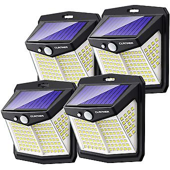 Solar Lights Outdoor, Claoner 128 LED Solar Motion Sensor Security Lights