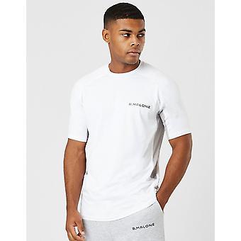 New B Malone Men's Tech Short Sleeve T-Shirt White