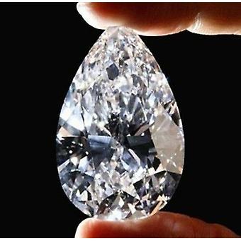 White Sapphire 51.58ct 18x25mm Pear Faceted Cut Shape Gemstone
