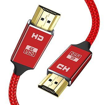 Cablu hdmi 4K 2m roșu hdmi plumb-snowkids ultra de mare viteză 18gbps hdmi 2.0 cablu 4k@60hz compatibil fi