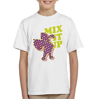 Slush Puppie Pattern Silhouette Mix It Up Kid's T-Shirt