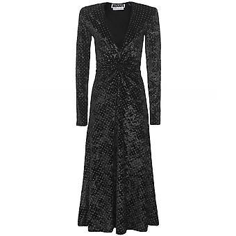 ROTATE Velvet Lily Midi Dress