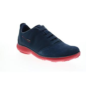Geox U Nebula  Mens Blue Canvas Lace Up Euro Sneakers Shoes