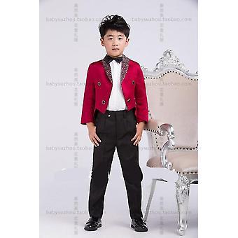 Boy's Hochzeitsanzug, cool E-Tüppf.