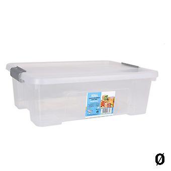 Oppbevaringsboks med lokk Dem Kira Transparent/10 L