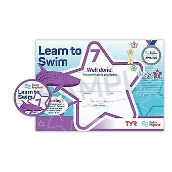 ASA Swim England Learn to Swim Award Stage 7