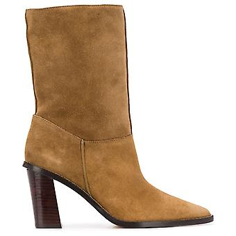K Line Shearling Ankle Boots