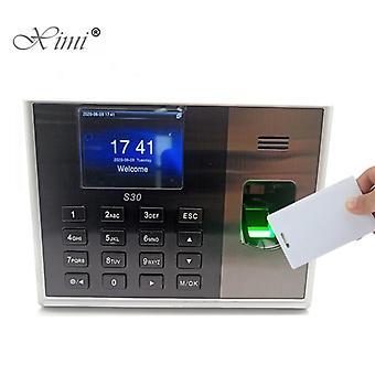 Biometrische vingerafdruktijd aanwezigheid met 13,56 mhz Mf Ic-kaartlezer