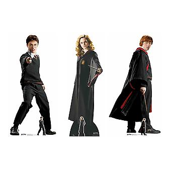 Harry Potter i Przyjaciele Karton Cutout School Uniform Styl 3 Pack