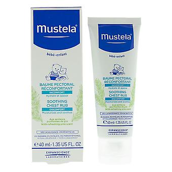 Mustela Soothing Chest Rub 40ml With Refreshing Pine Scent - From Birth On