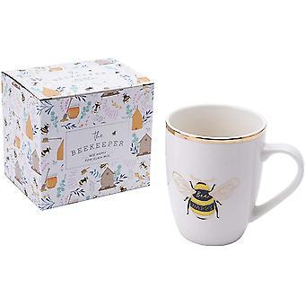 The Beekeeper 'Bee Happy' Porcelain Mug | from CGB Giftware's The Beekeeper Range | Mug | Tea |
