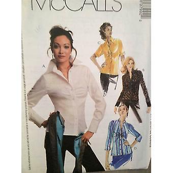 McCalls Schnittmuster 3799 Damen Misses Shirts Bluse Größe 4-10 ungeschnitten