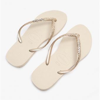 Havaianas Hav Slim Glitter Ii Dames Flip Flops Beige