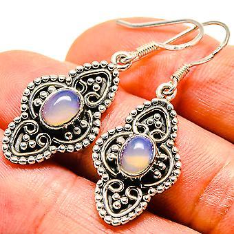 """Natürliche äthiopische Opal Ohrringe 1 1/2 """" (925 Sterling Silber) - handgemachte Boho Vintage Schmuck EARR414333"""