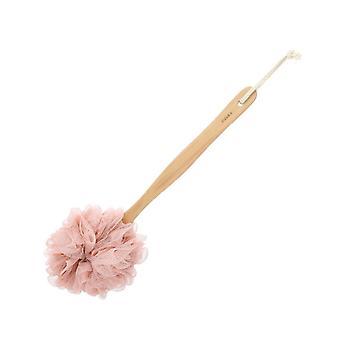 tre lang håndtak bad svamp beige rosa 28x11cm