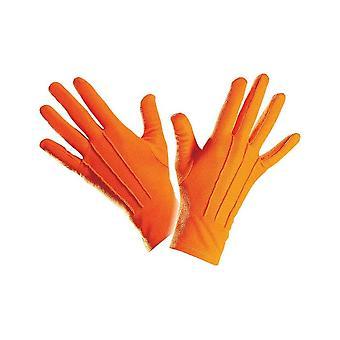 Gants courts orange adulte